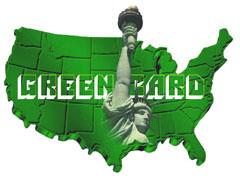 La carte verte obtenue par loterie